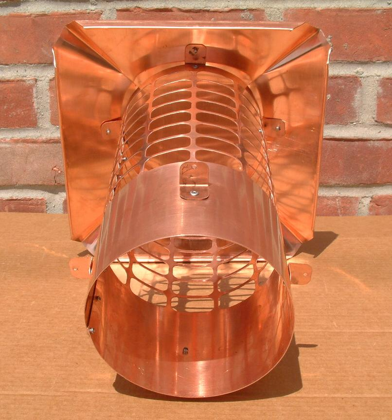 Round copper chimney caps for How to close chimney flue