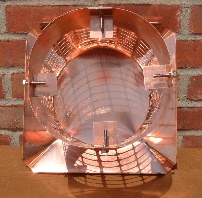 Round copper chimney caps for Close chimney flue