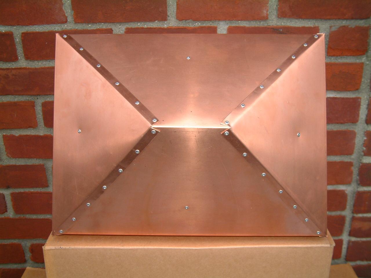 Volko Supply Copper Hip And Ridge Chimney Caps