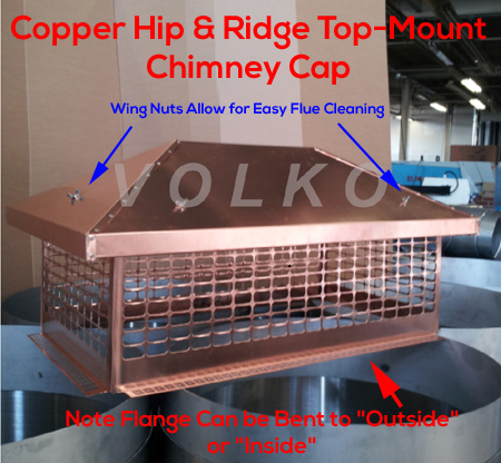 large copper chimney cap